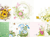 7-Various-Flowers-Vector-Material
