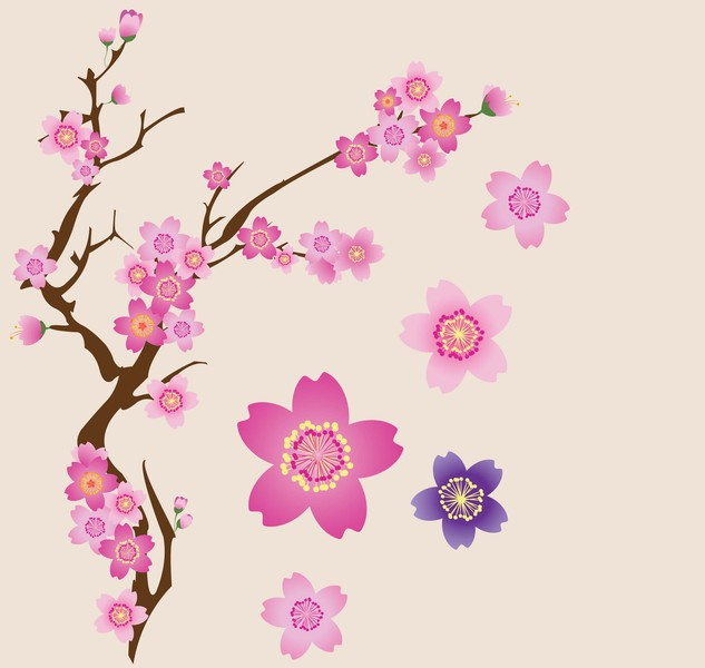 Cherry-Blossoms-Vector