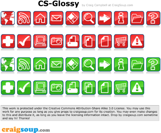 Glossy-Vector-Icons