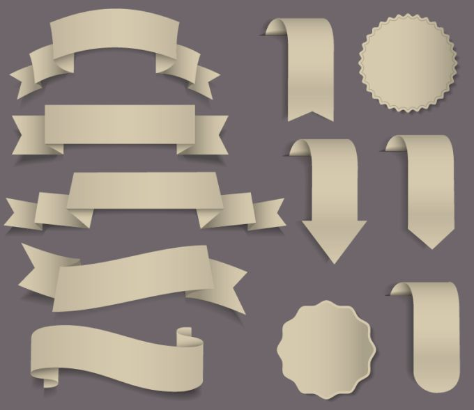 11-Ribbons-Badges-Vector-Set