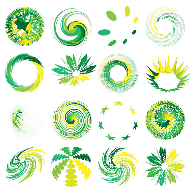 16 Round Abstract Graphic Logo Vector  Free Vector Site  Download