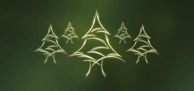 Christmas-Glowing-Trees-Vector