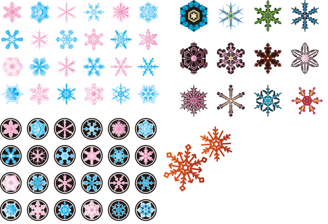 Christmas-Snowflake-Elements-Vector