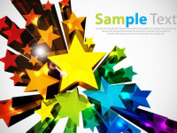 Colorful-3D-Stars-Vector-Background-Design