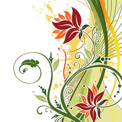 Fashion-Floral-Background-Vector-Illustration