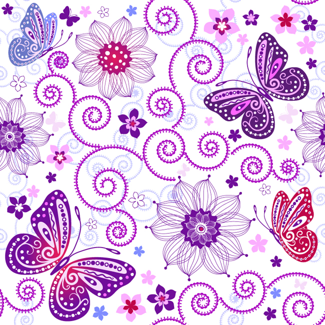 Floral-Butterfly-Pattern-Vector