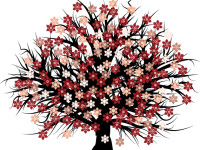 Free-Blossomed-Tree-Vector