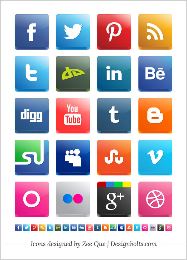 Free-Vector-3D-Social-Media-Icon-Pack