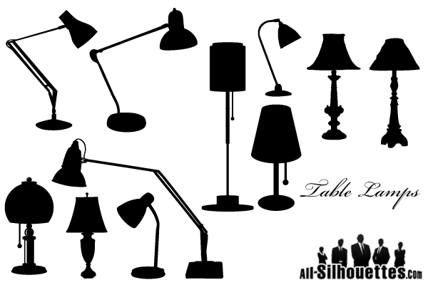 Free-Vector-Table-Lamps-Silhouettes