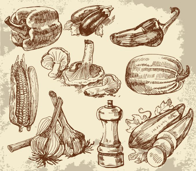 Hand-Drawn-Vegetables