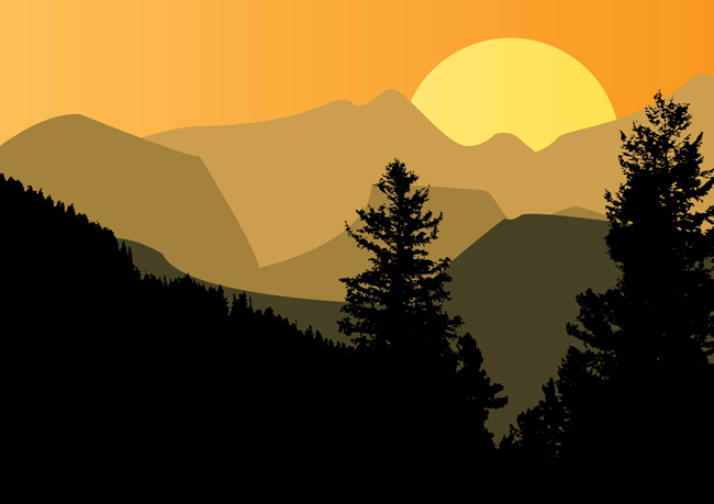 Mountain-Sunset