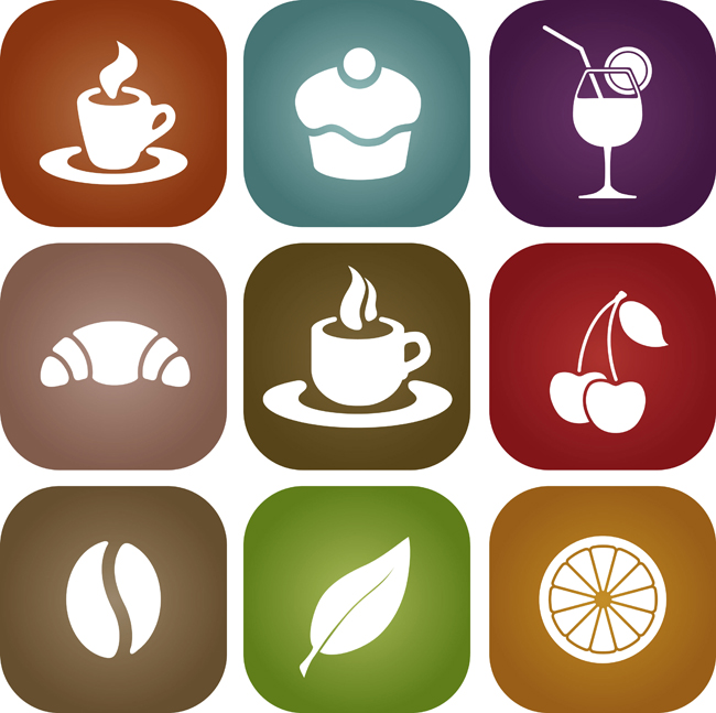 Simple-Food-Icon-Vector-Material