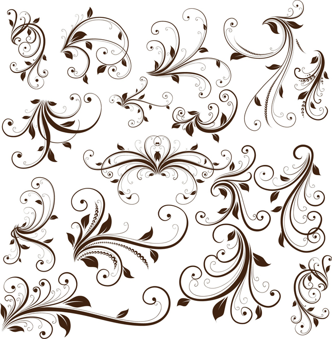 Swirl-Floral-Decorative-Element-Vector-Graphic