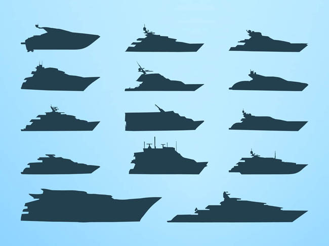 Vector-Boats-Silhouettes