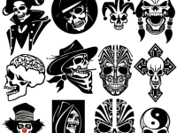 12-Skull-Vector-Collection