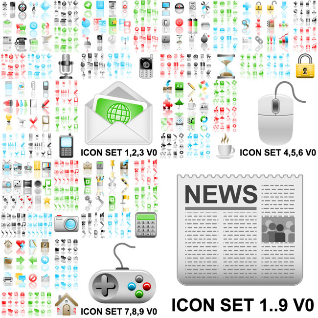 A-very-wide-practical-icon-vector-material