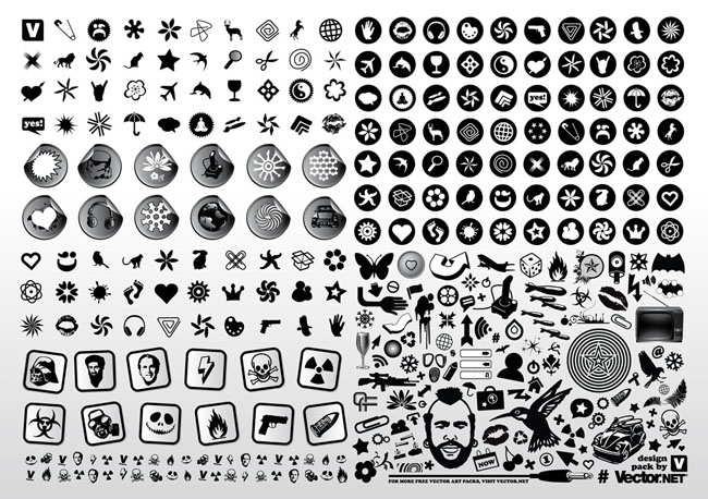 Black-White-Vector-Design-Icons