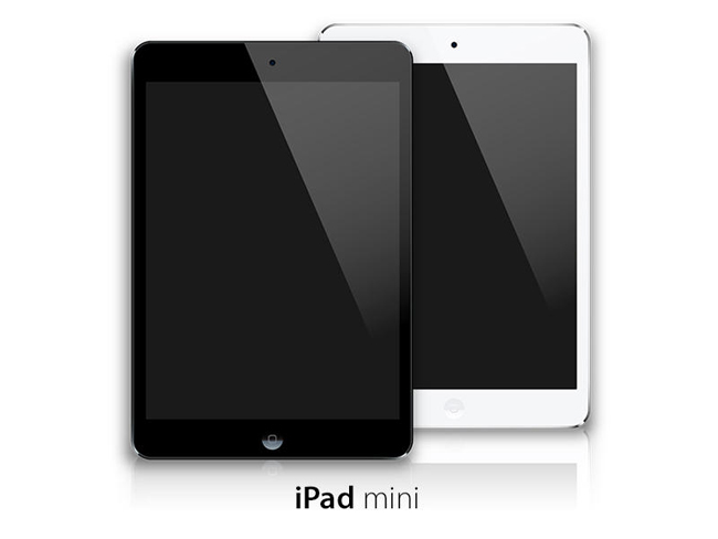 Black-and-White-iPad-Mini-Vector