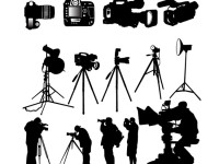 Camera-Photographer-silhouette-vector