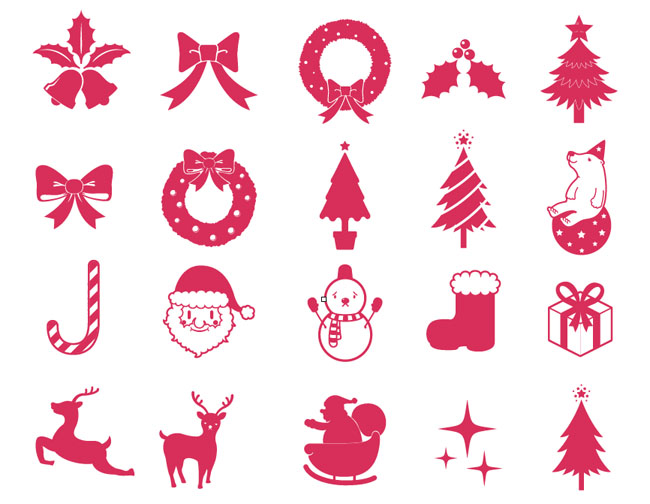 Christmas Elements Vector Collection - Free Vector Site | Download ...