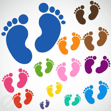 Colorful-Baby-Footprints