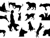 Dog-silhouettes