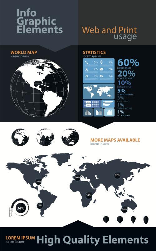 Economy-Infographics-design-elements