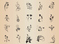 Floral-Element-Set-Vector-Graphics