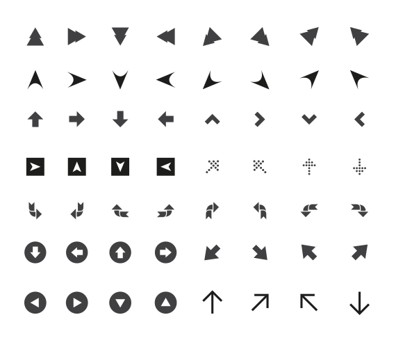 Free-Arrow-Vector-Icon-Pack