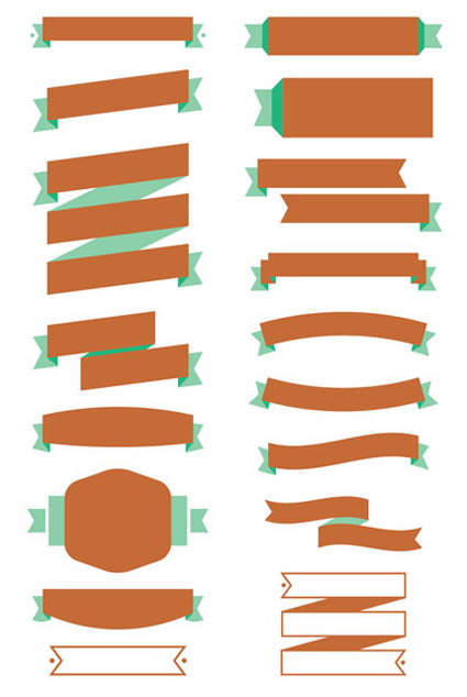 Free-Ribbon-Vector-Banner-Set