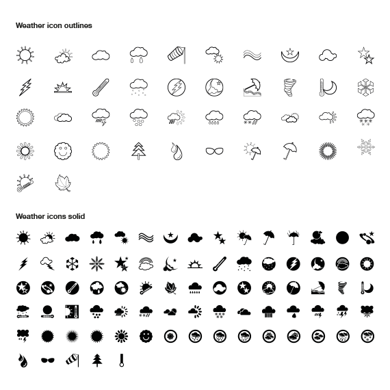 Free-Weather-Vector-Icon-Pack