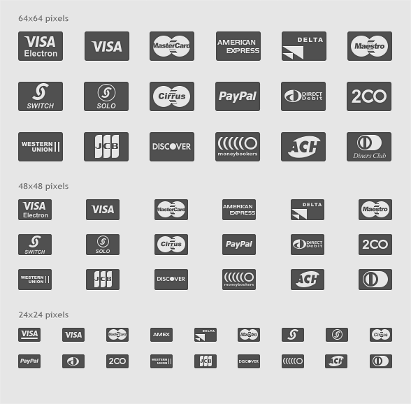 Payment-Card-Glyphs-Icon-Set