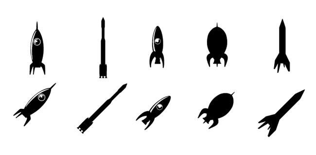 Rockets-Silhouette