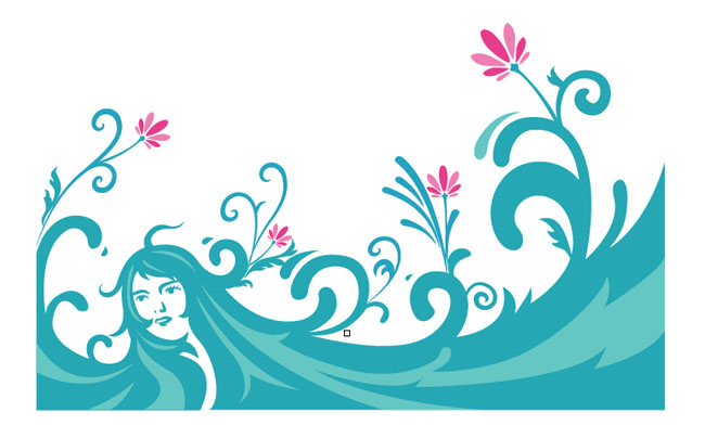 woman-in-the-water-with-flowers