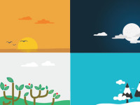 4-Unique-Nature-Scenes-Vector-backgrounds