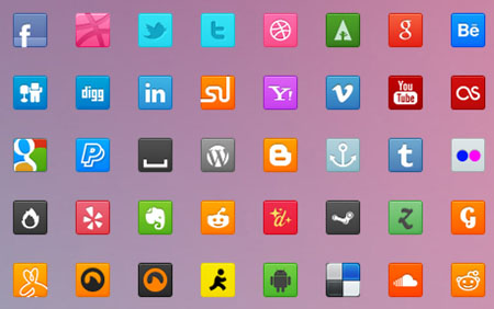 70-Sweet-Social-Icons