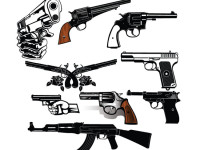 9-Detailed-Vector-Guns-and-Pistols-Set