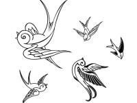 Birds-sparrows-Free-vector