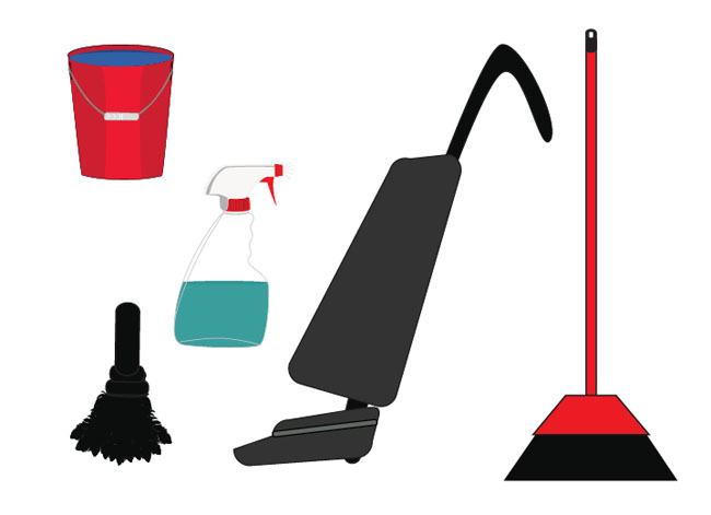 Cleaning-The-House-Vector