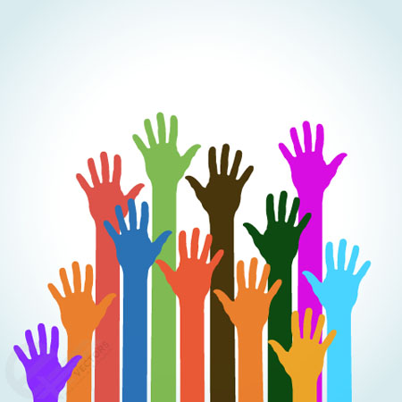 Colorful-Hands-vector