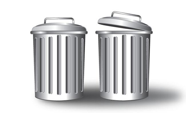 Free-Vector-Trash-Can-Gray-Metallic