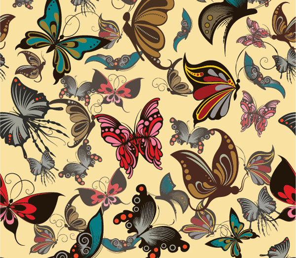 Free-Vector-butterflies-seamless-pattern