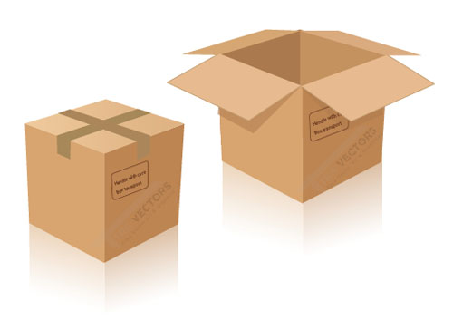 Free-Vector-cardboard-delivery-box