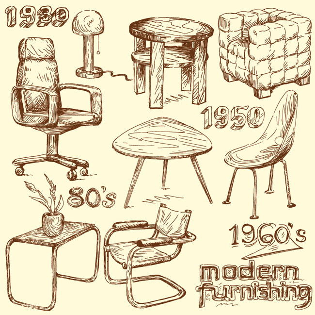 Handmade-modern-home-furniture-doodles