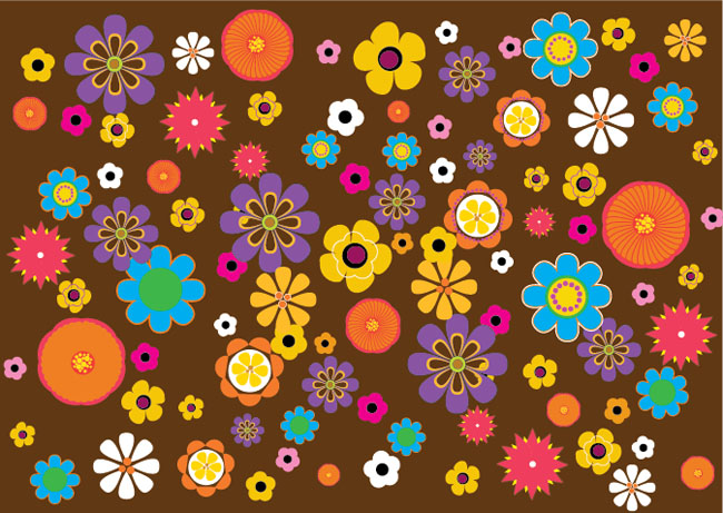 Retro-Flowers-Pattern