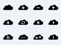 Simple-Vector-Cloud-Icons