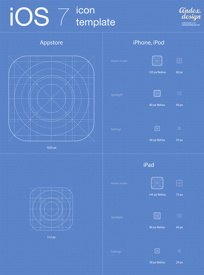 ios 7 app icons template