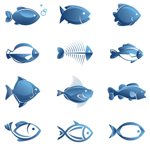12-Blue-Fish-Vector
