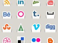 22-Free-Paper-Cut-Social-Media-Icons