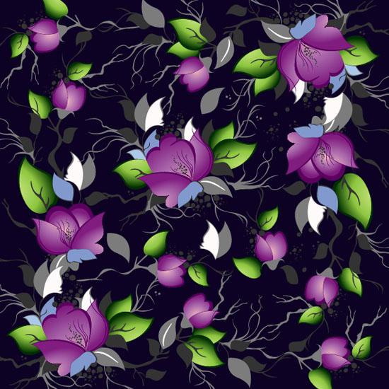 Elegance-Floral-Pattern-Vector-Background